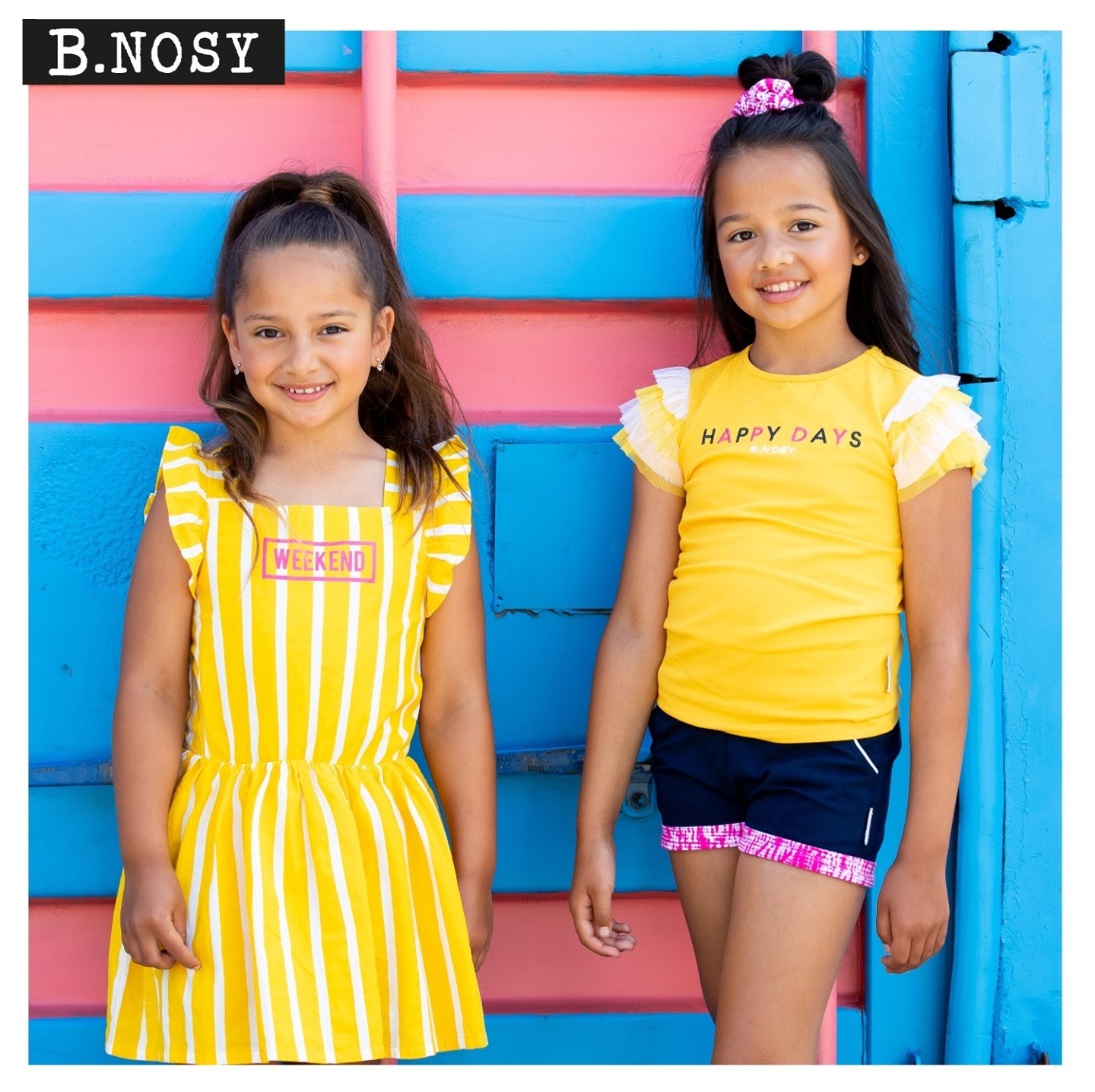 HAPPY DAYS!⁠ #bnosygirls #sisters #kidswear #fashiongirls #newcollection #loveyellow #weekendvibes #nowavailable #letsshop #summercollection #inspiration #newoutfit